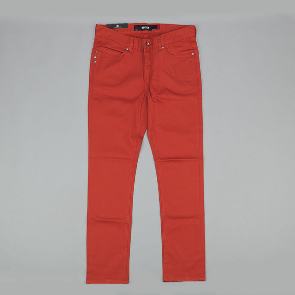 Kr3w K Slim Chino Trousers - Burnt Orange