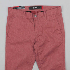 Kr3w K Slim Chino Trousers - Red Heather
