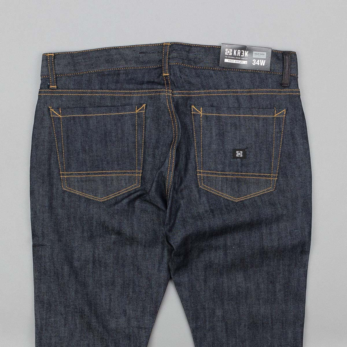 Kr3w K Slim Taper Jeans - Raw Blue