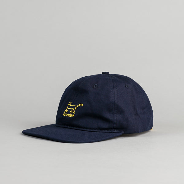 Krooked Kat Embroidered Cap - Navy
