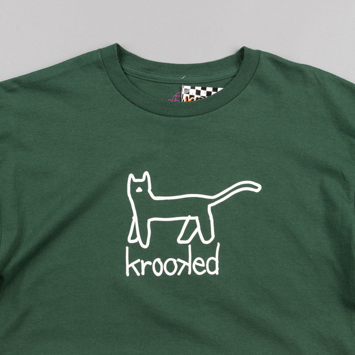 Krooked Kat T-Shirt - Forest Green