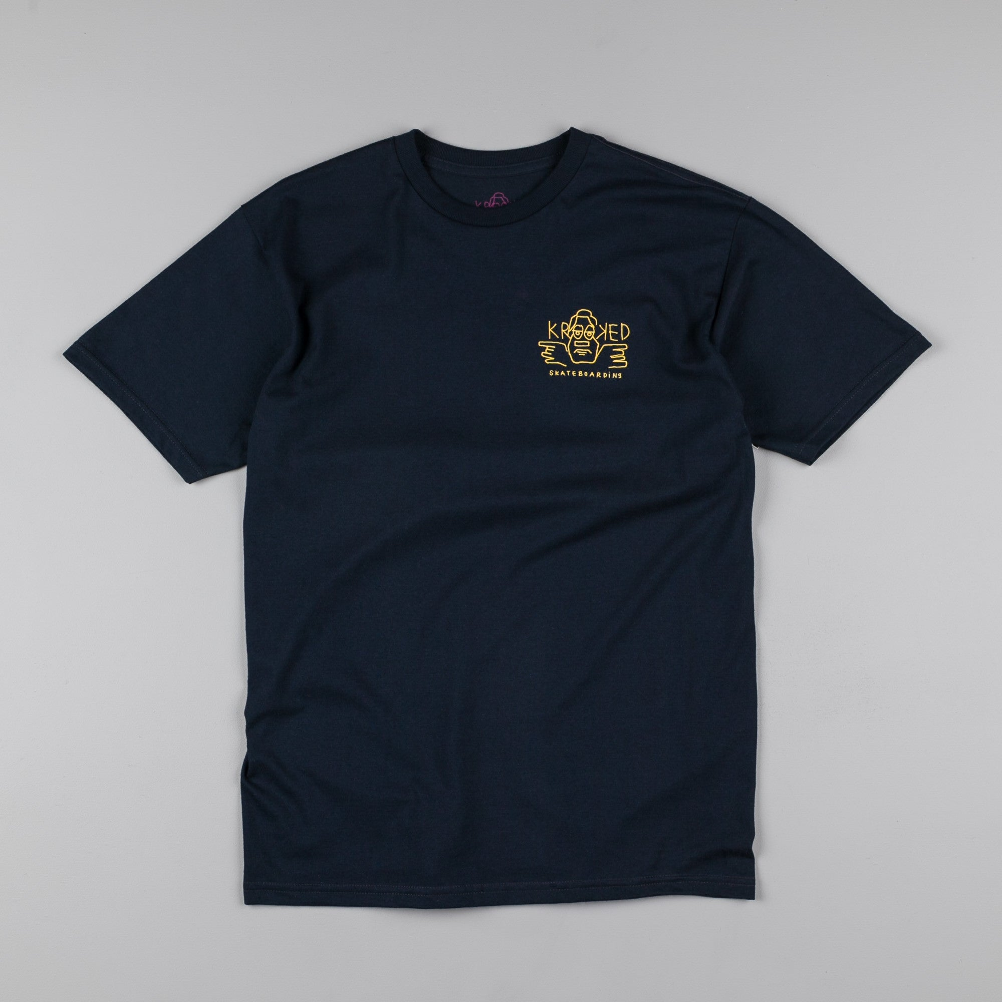 Krooked Dude Double T-Shirt - Navy