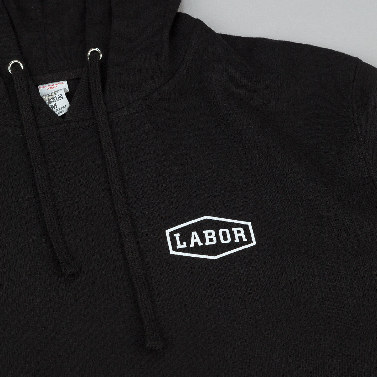 Labor Crest Logo Hooded Sweatshirt - Black