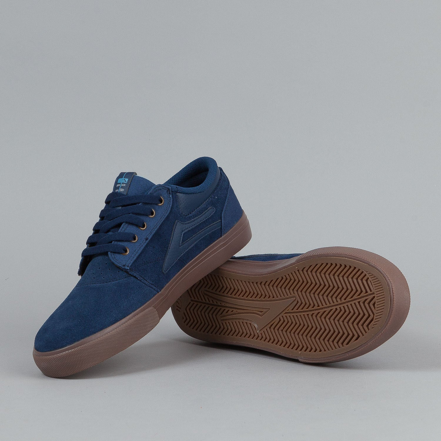 Lakai Griffin Shoes Navy / Gum Suede