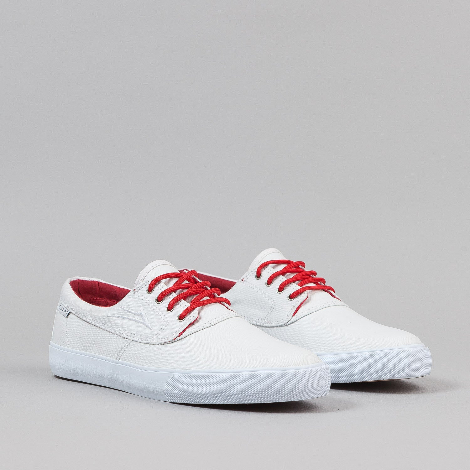 Lakai Anchor Camby Shoes - White / White PU Canvas