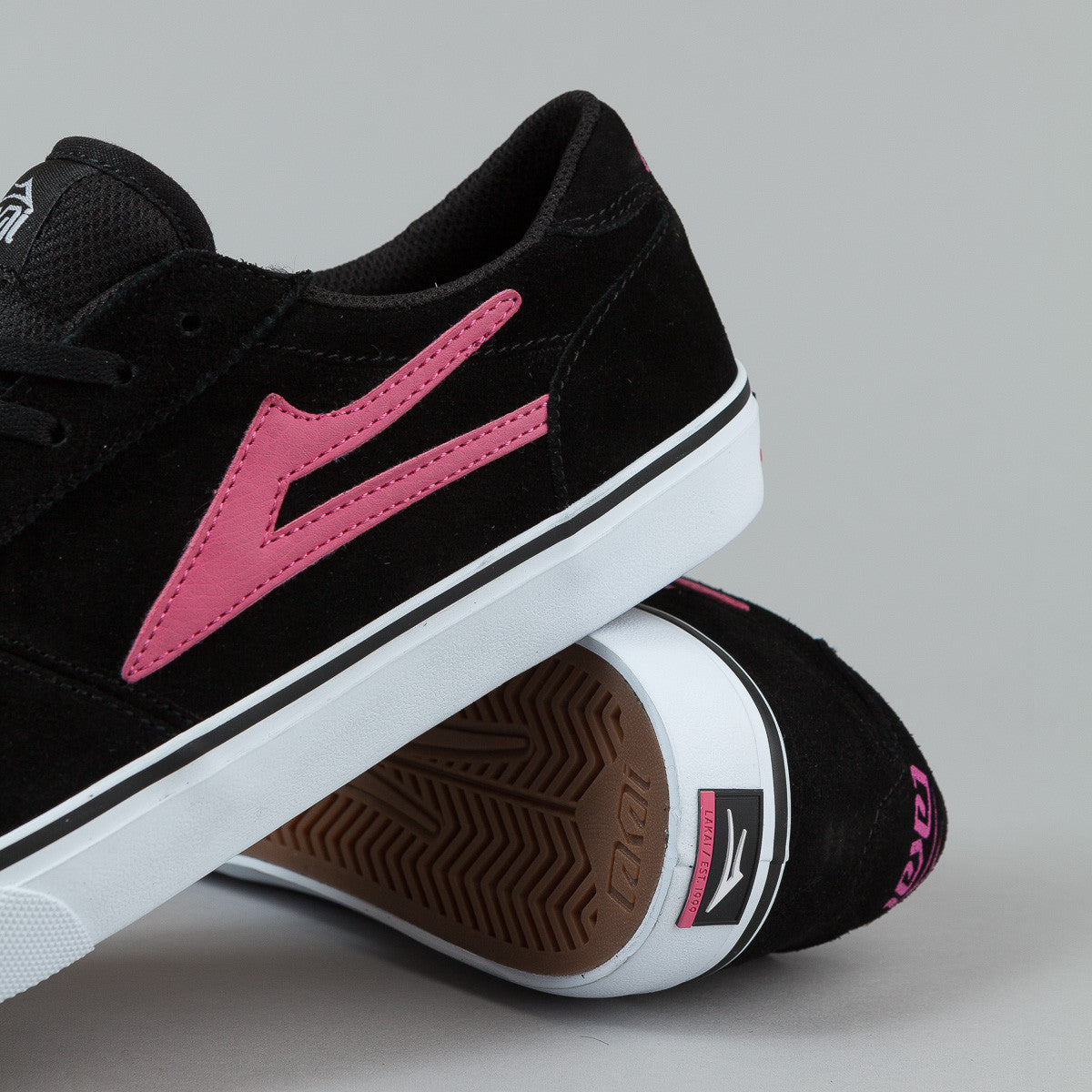 Lakai Anchor Manchester McCrank Shoes - Black / Pink Suede