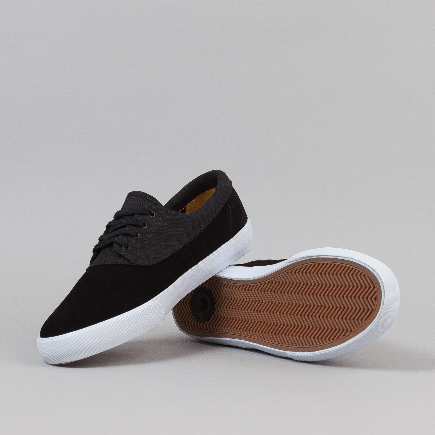 Lakai Camby Shoes - Black Suede w/ Canvas