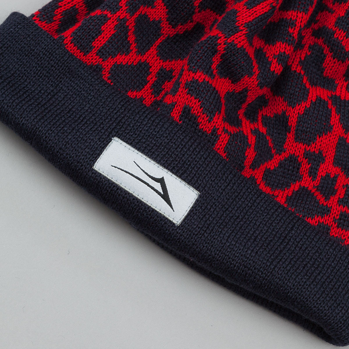 Lakai Crackle Pom Pom Beanie Red / Navy