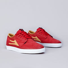 "Lakai X FTC ""The Stick"" Griffin Red / Gold Suede"