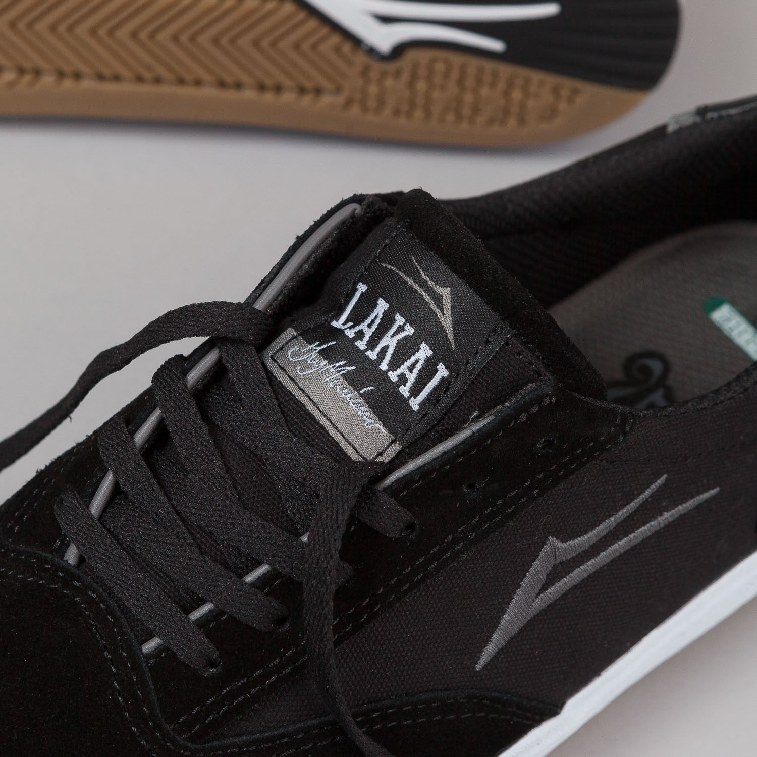 Lakai Guymar Shoes - Black / White Suede