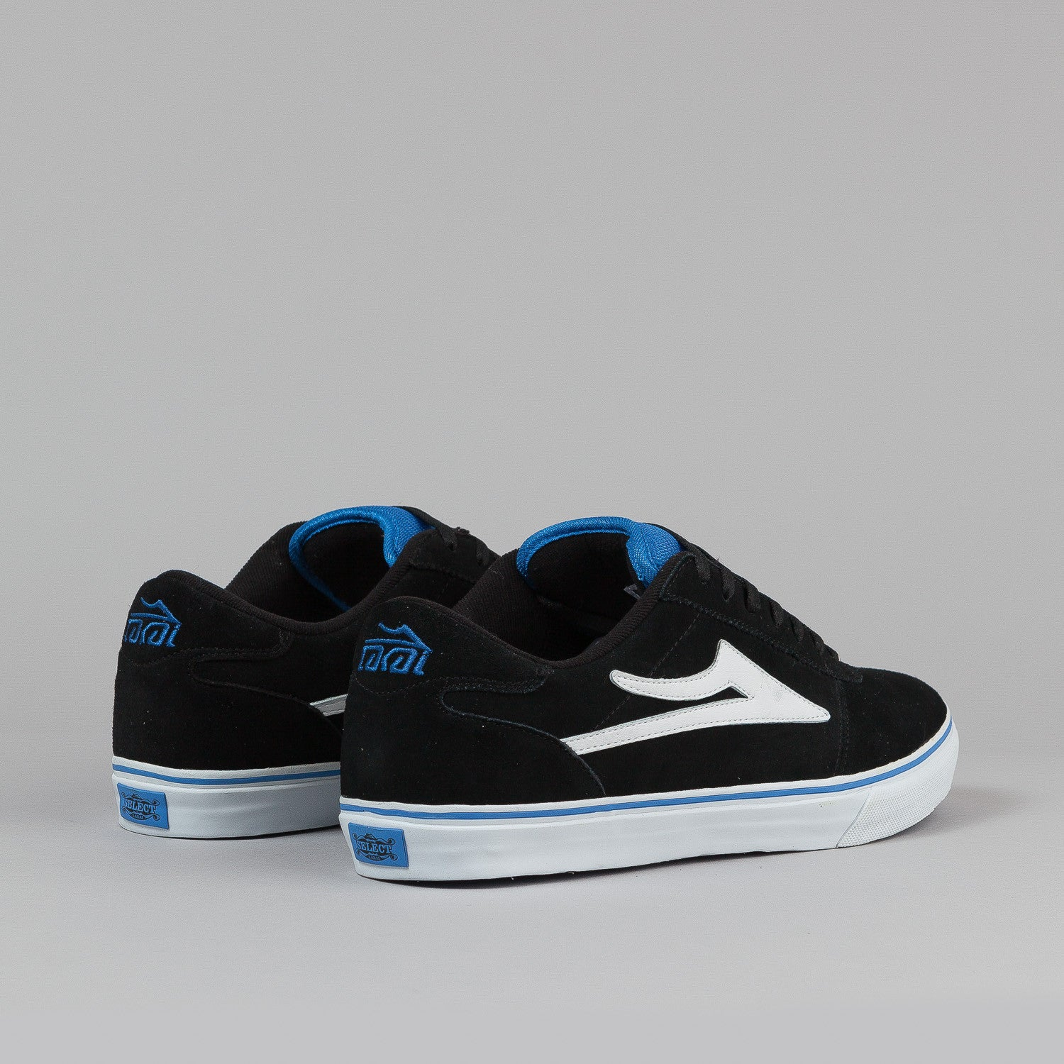 Lakai Manchester Select Mo Shoes - Black / Royal Suede
