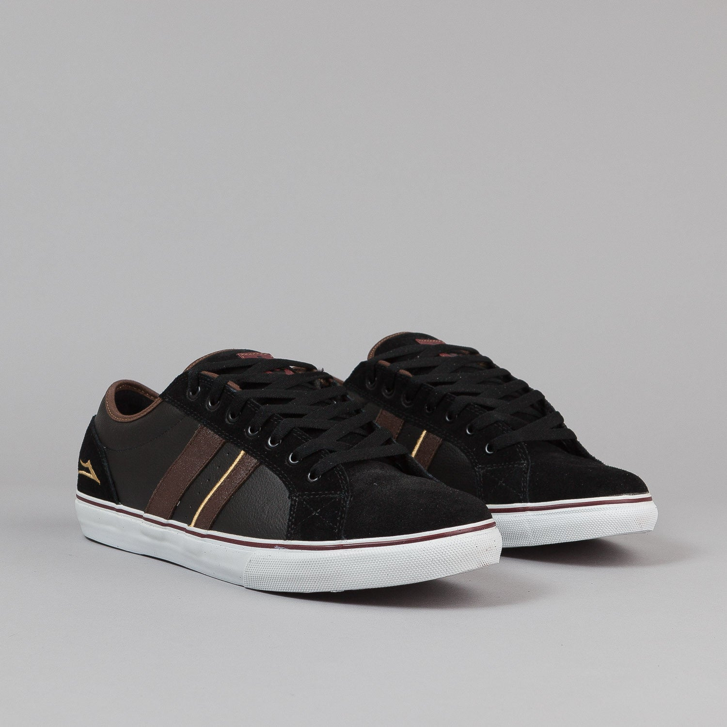 Lakai MJ-2 Select LTD Shoes - Black / Chocolate Leather