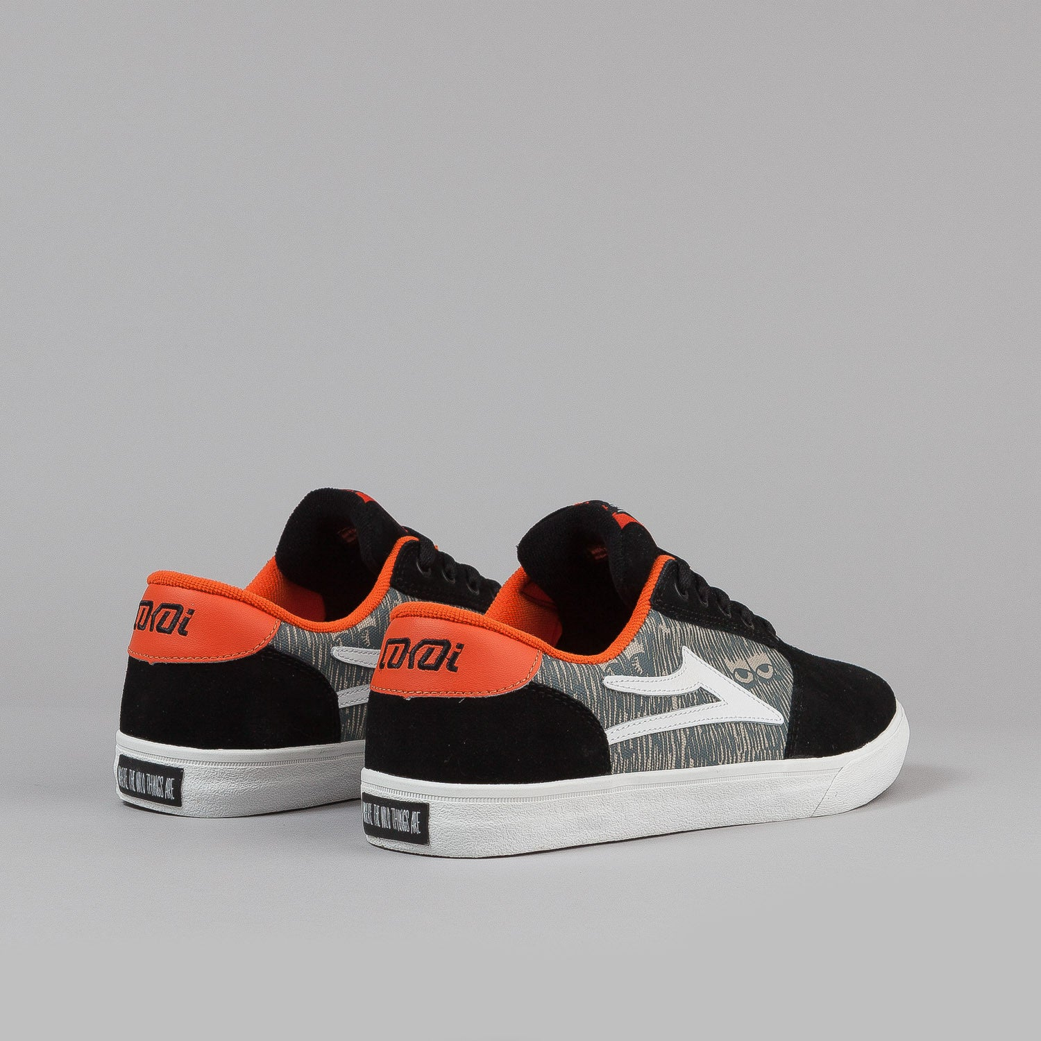 Lakai Pico WT Shoes - 'Wild Things' Black / Grey