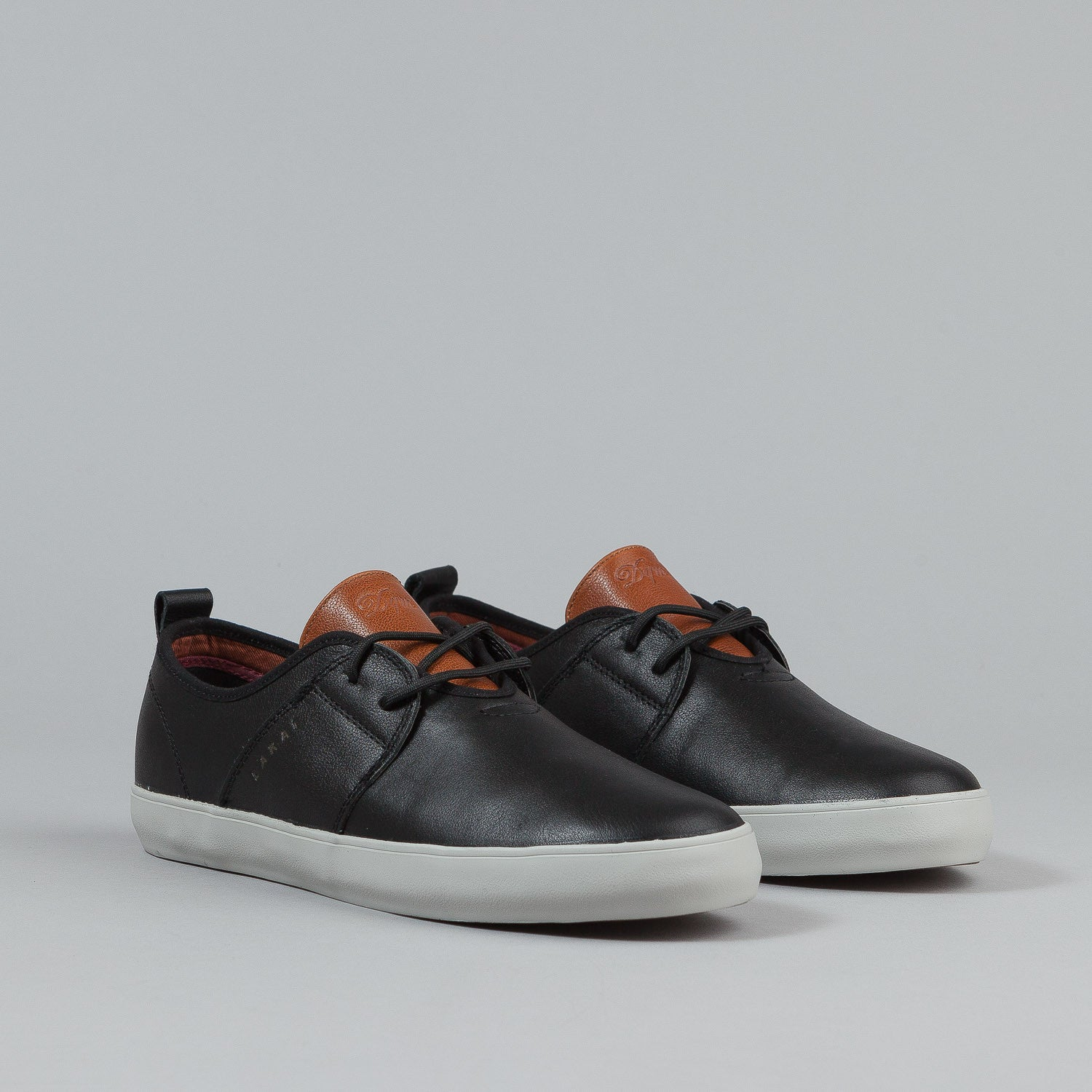 Lakai X DQM Albany Echelon Shoes - Black / Brown Leather