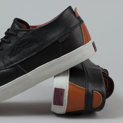 Lakai X DQM Camby Mid Echelon Shoes - Black / Brown Leather