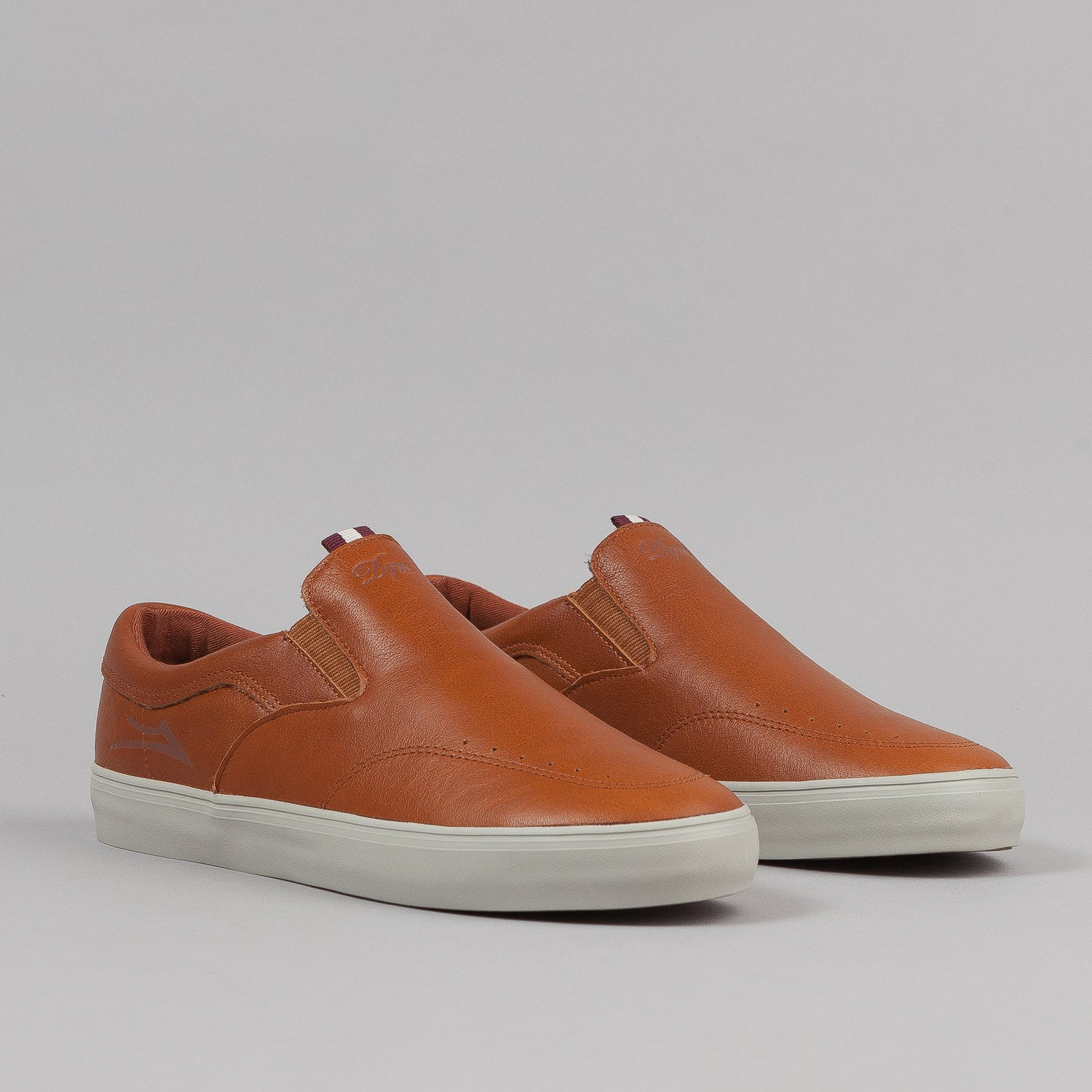 Lakai X DQM Owen Echelon Shoes - Golden Brown Leather