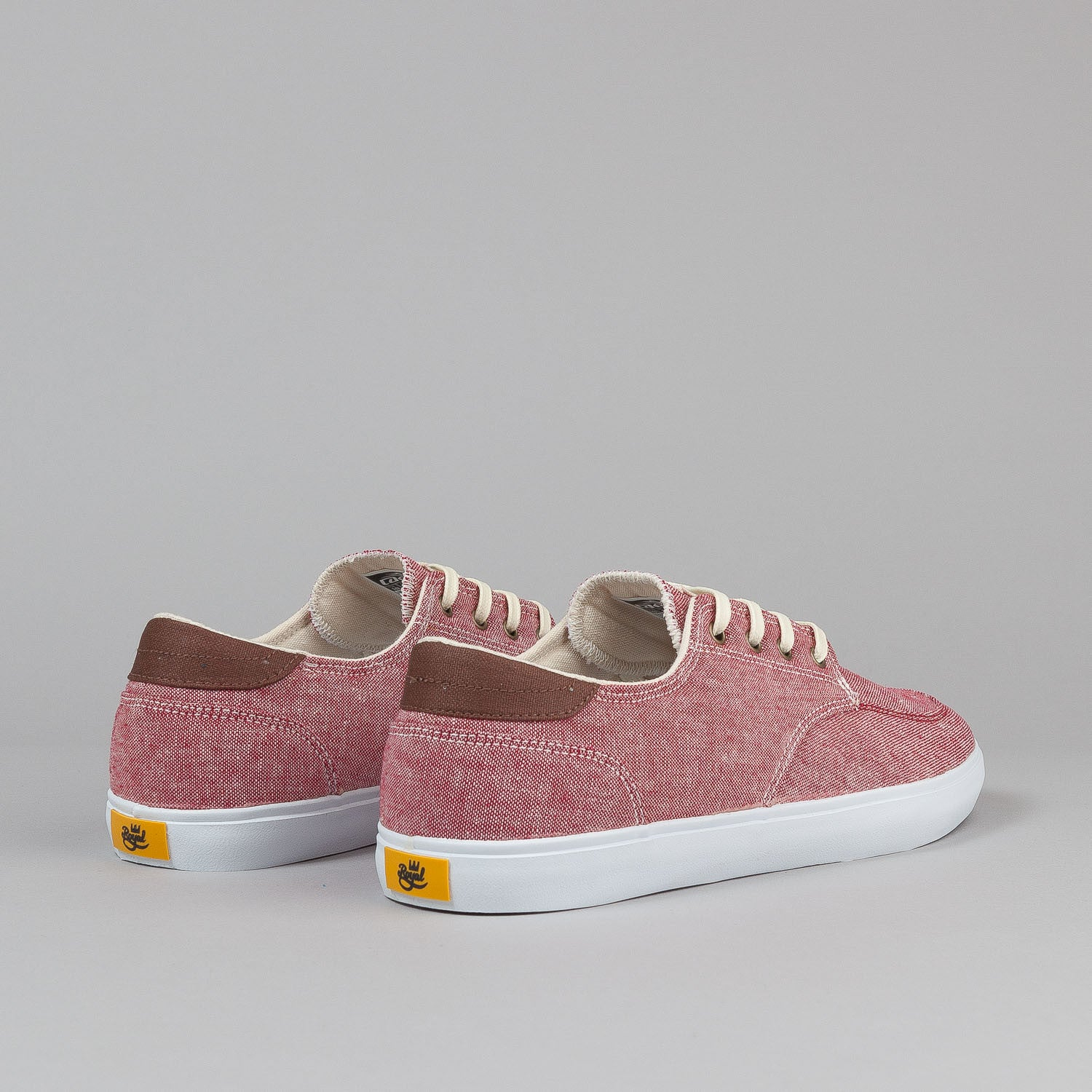 Lakai X Royal Belmont Shoes - Red Chambray