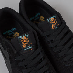 Lakai X Thrasher Vincent Shoes Black Suede