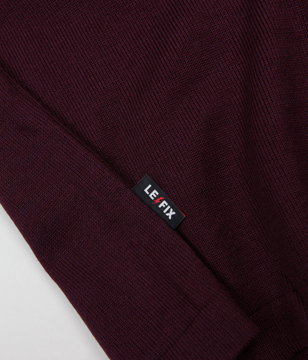 Le Fix Flag Bike Knit Sweatshirt - Maroon