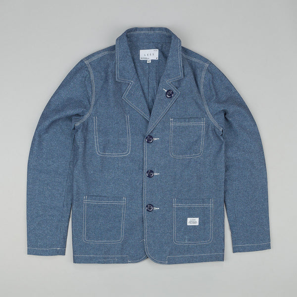 Less Chambray Blazer Indigo Blue