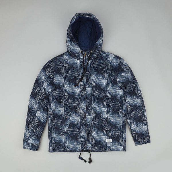 Less Geometric Pattern Jacket Blue