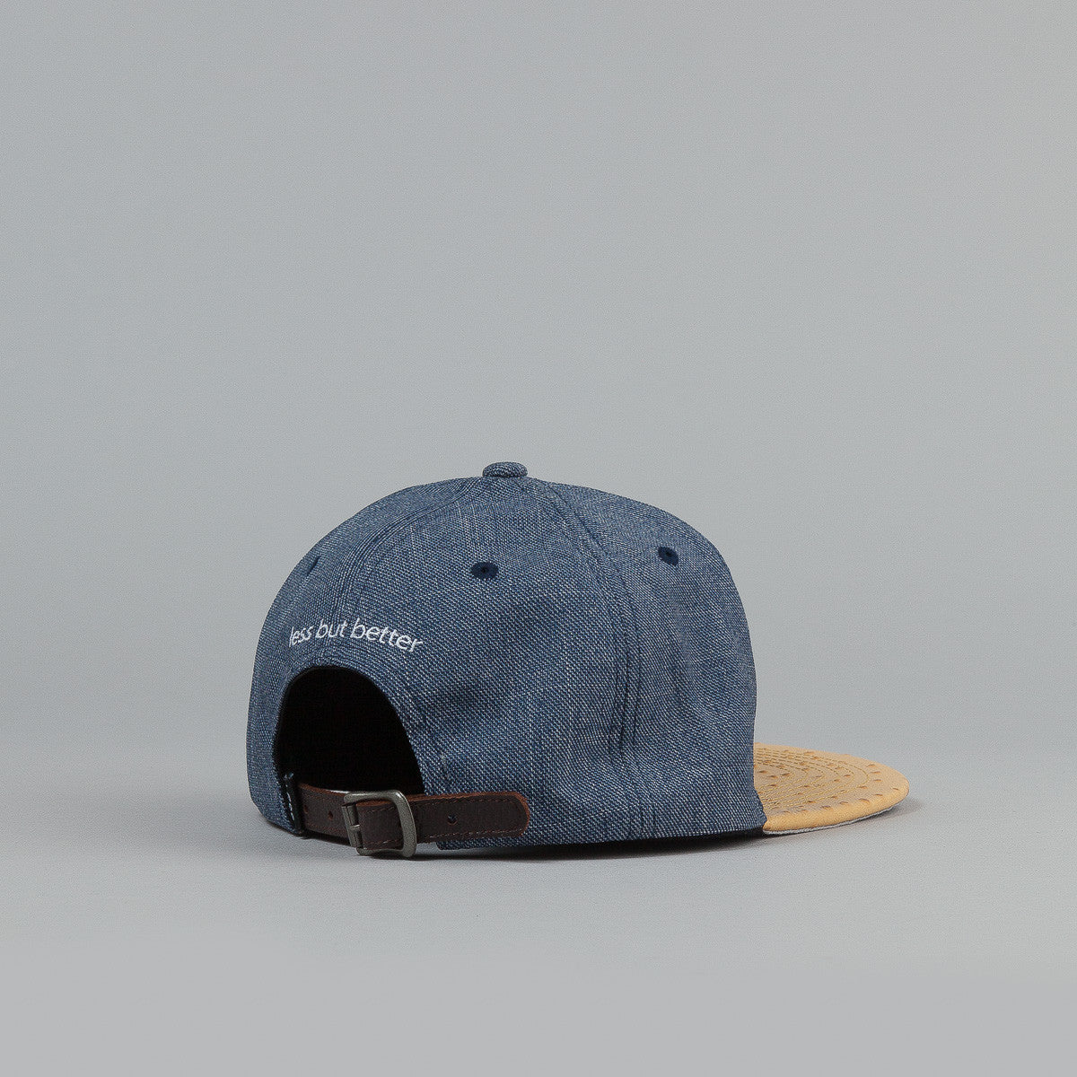 Less Metal Big L Snapback Cap Ostrich / Light Blue
