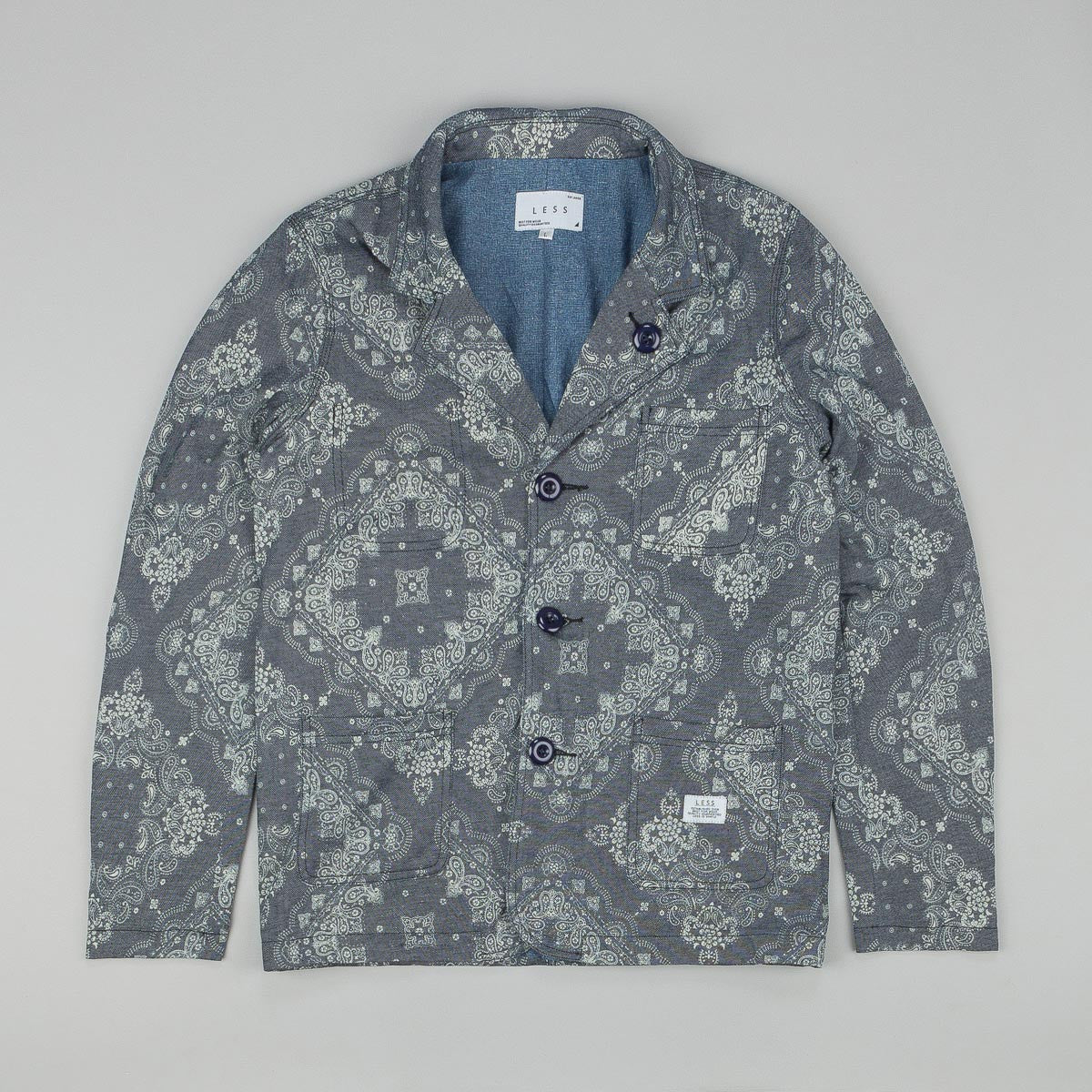 Less Paisley Pattern Blazer Blue