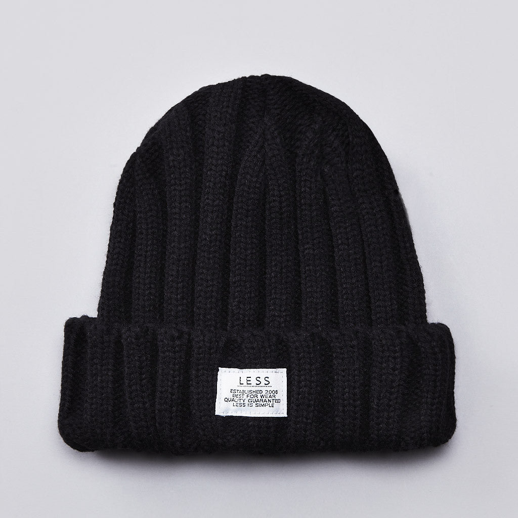 Less Simple Logo Beanie Black