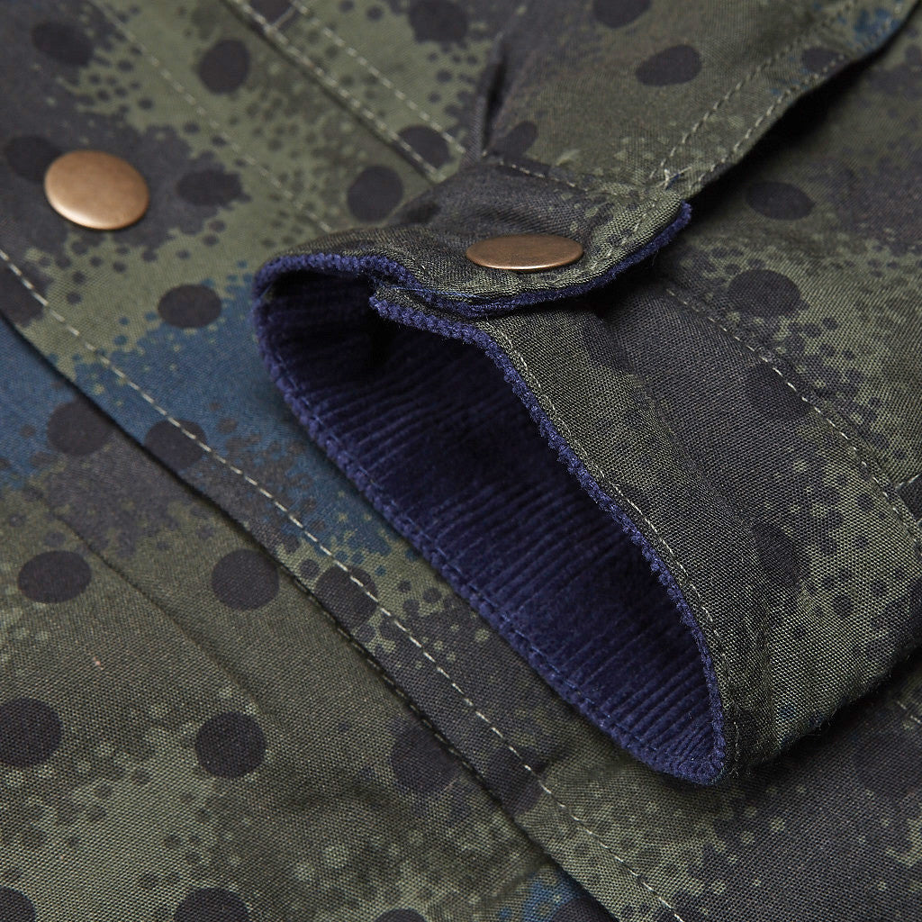 Less Spray Camouflage Jacket Navy