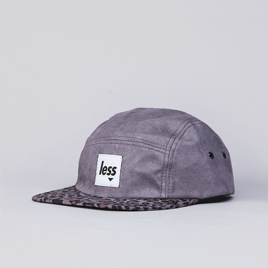 Less Square Logo Camp Cap Grey / Leopard