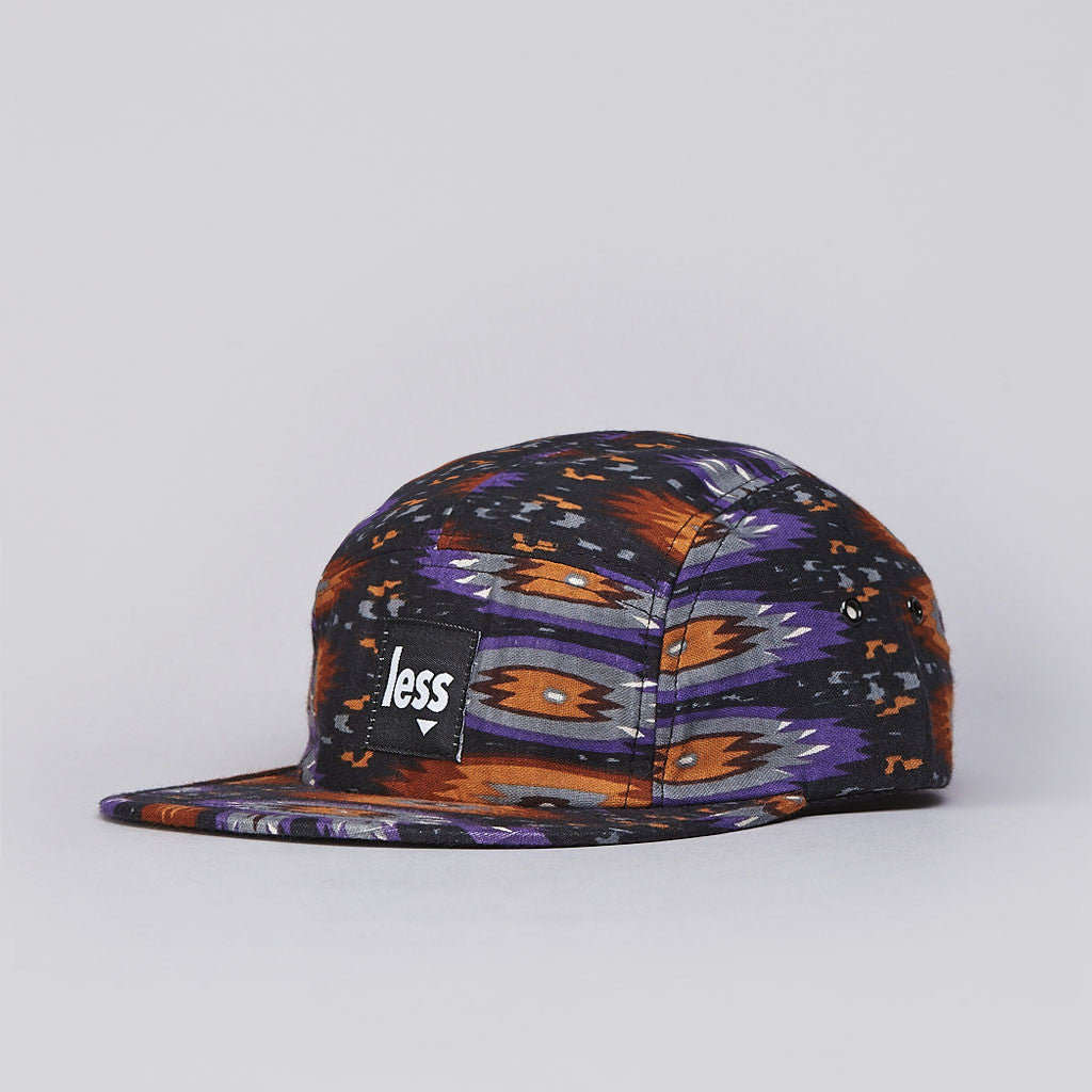 Less Square Logo Camp Cap Native Purple