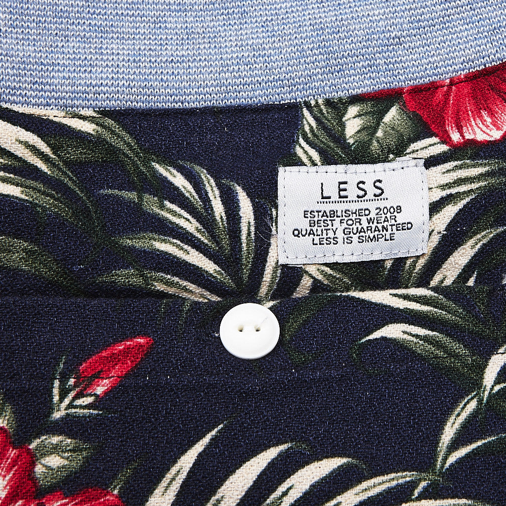 Less Sweatpant Flower Print / Navy