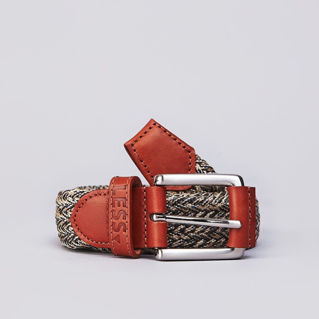 Less Woven Belt Brown