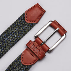 Less Woven Belt Navy