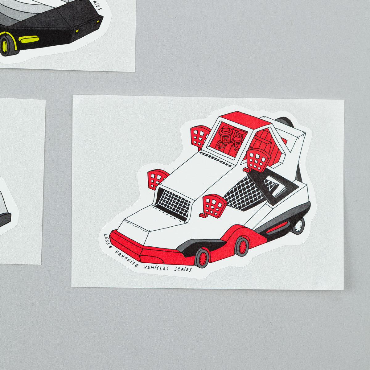 Less x Ghica Popa Favourite Vehicles Series Sticker Pack