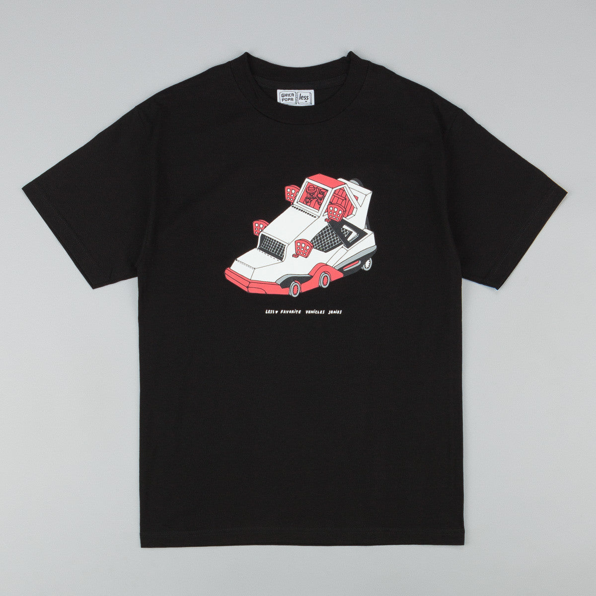 Less x Ghica Popa Vehicles Series AJ4 T-Shirt - Black