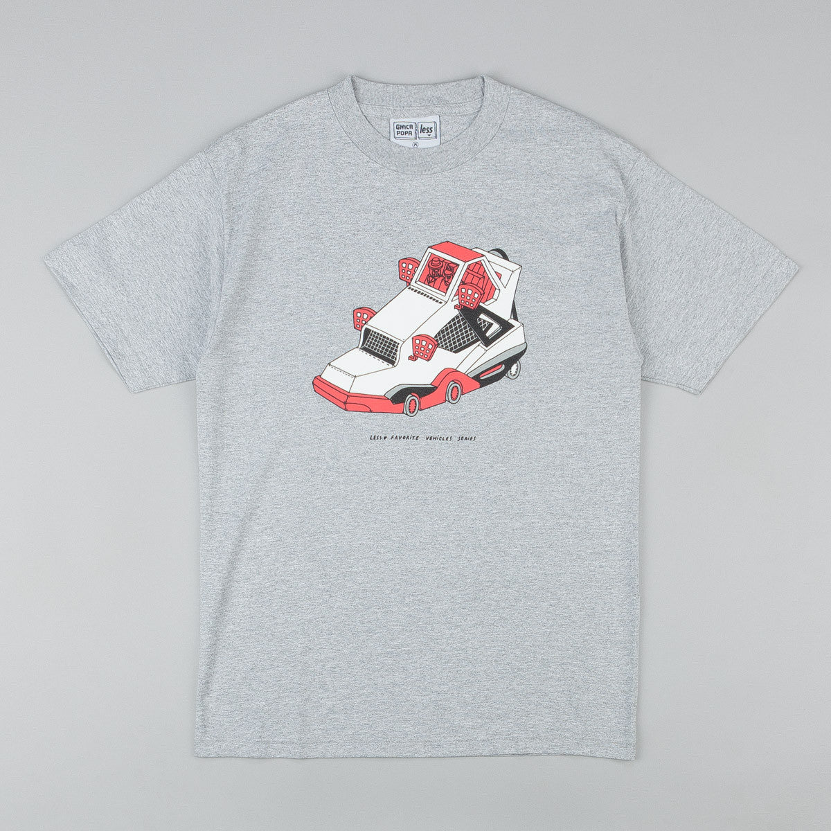 Less x Ghica Popa Vehicles Series AJ4 T-Shirt - Grey Heather