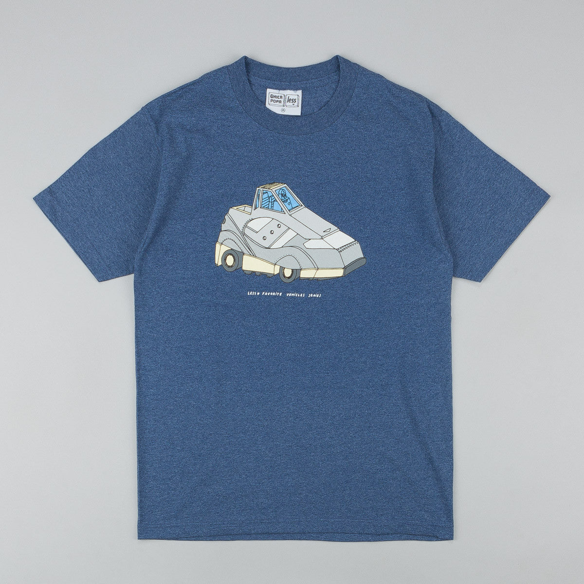 Less x Ghica Popa Vehicles Series G9 Shadow T-Shirt - Denim Heather