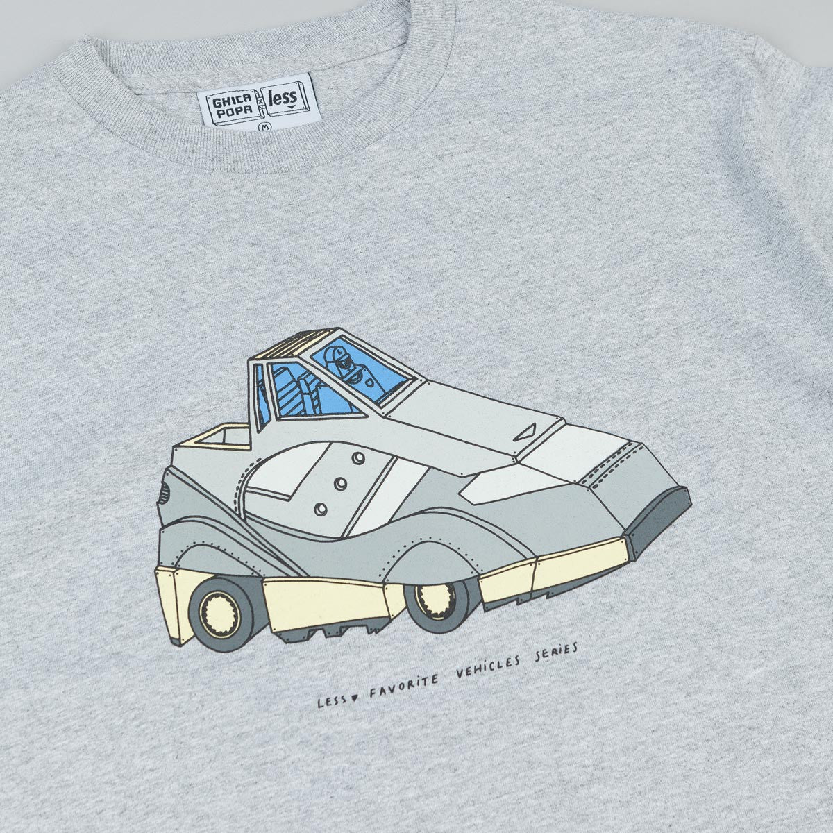 Less x Ghica Popa Vehicles Series G9 Shadow T-Shirt - Grey Heather