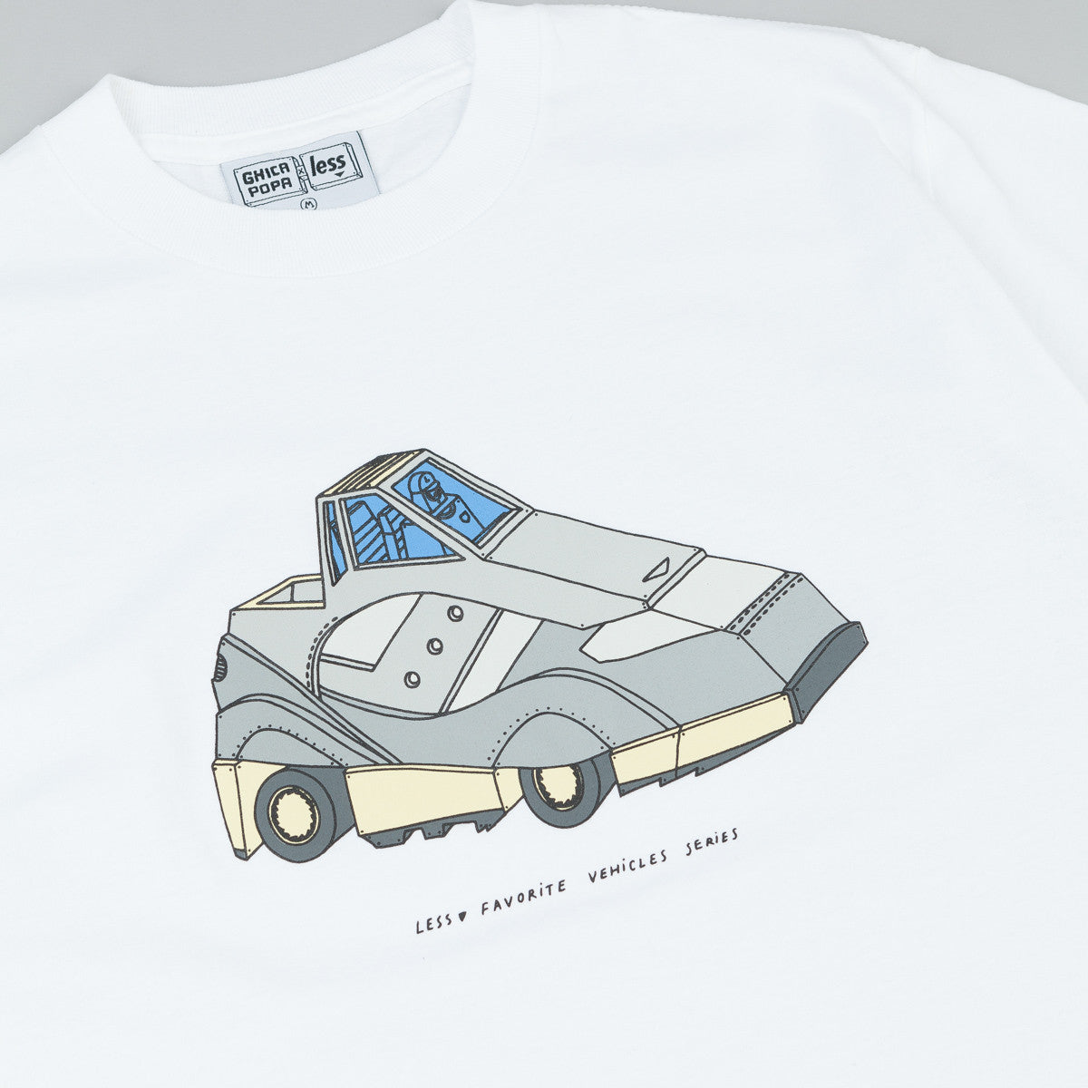Less x Ghica Popa Vehicles Series G9 Shadow T-Shirt - White
