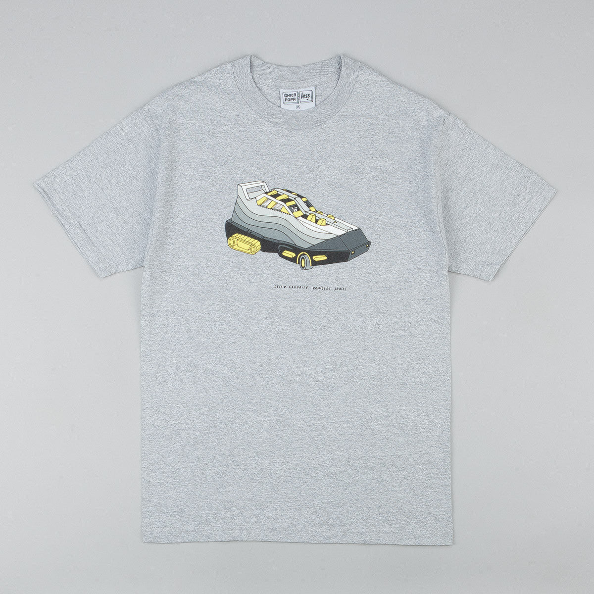 Less x Ghica Popa Vehicles Series Max 95 T-Shirt - Grey Heather