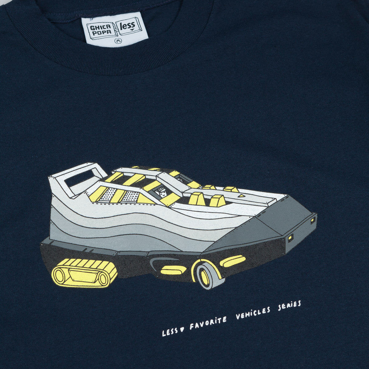 Less x Ghica Popa Vehicles Series Max 95 T-Shirt - Navy