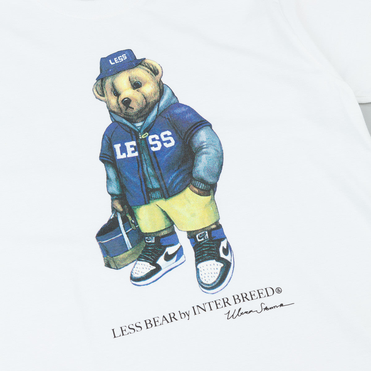 Less x Interbreed Bear T-Shirt - White