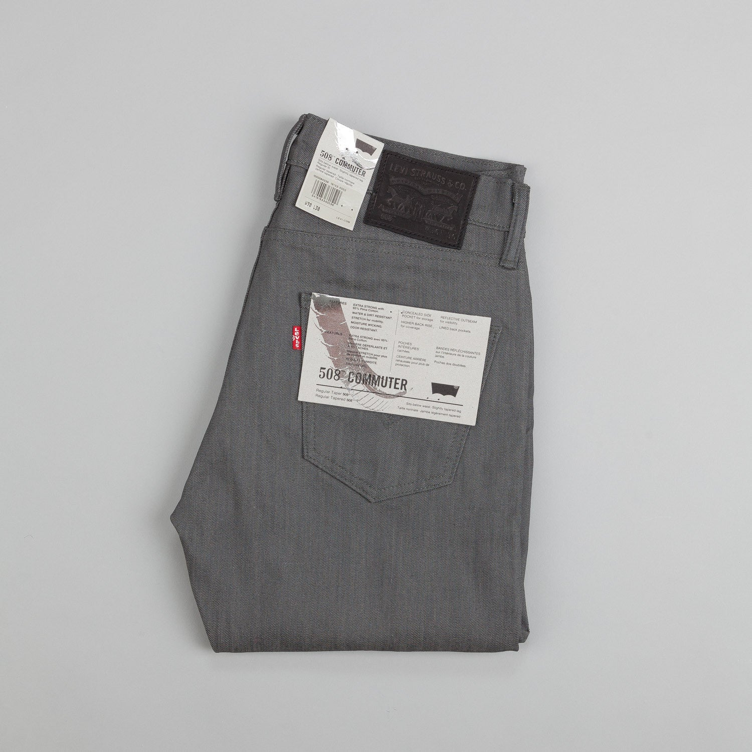 Levi's'® Commuter 508 Jeans Grey Denim Rigid