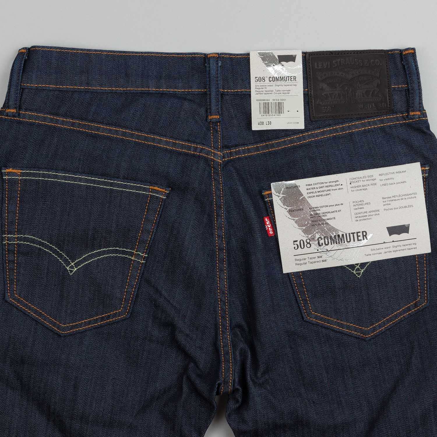Levi's® Commuter 508 Jeans Indigo Denim Rigid