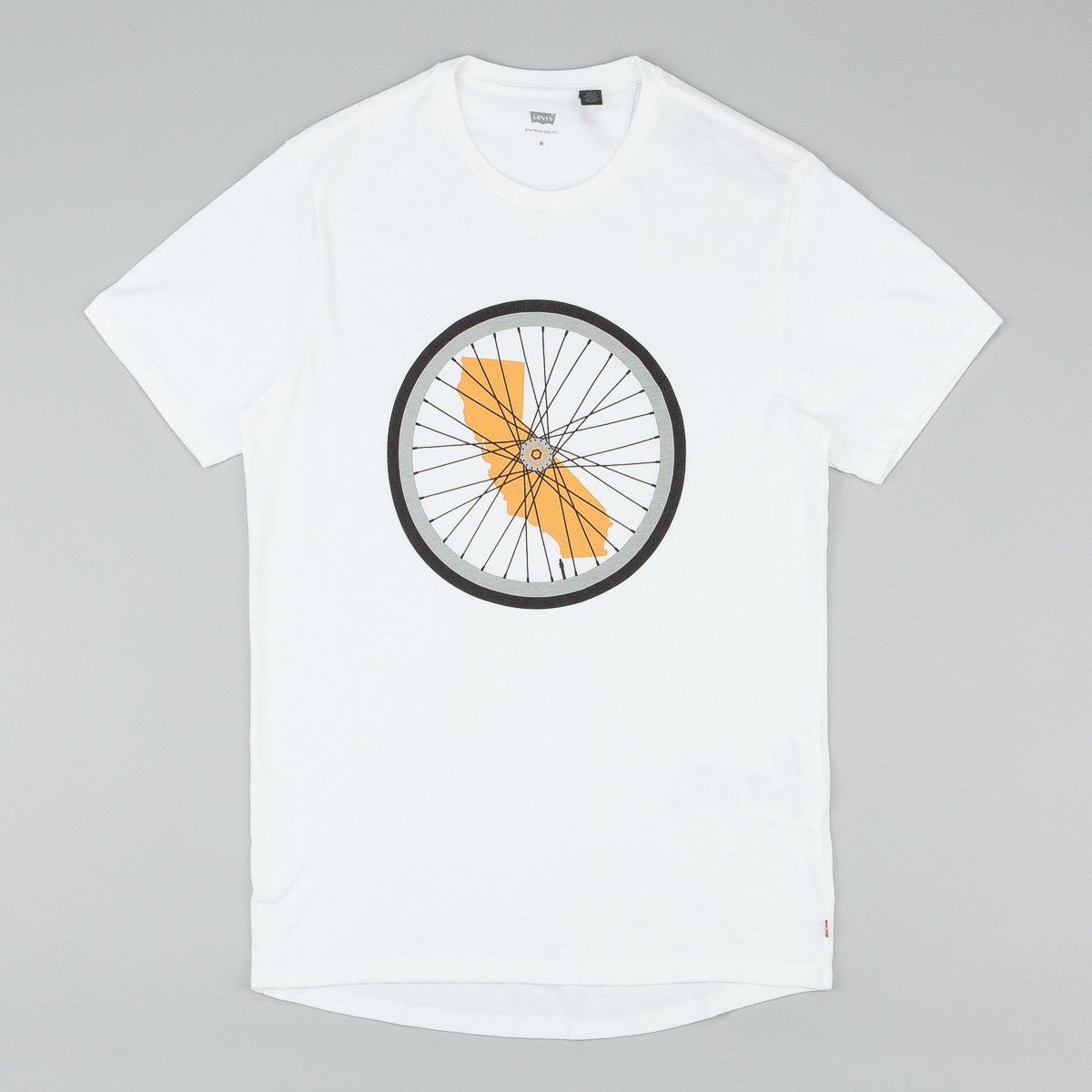 Levi's® Commuter Drop Hem T-Shirt - White