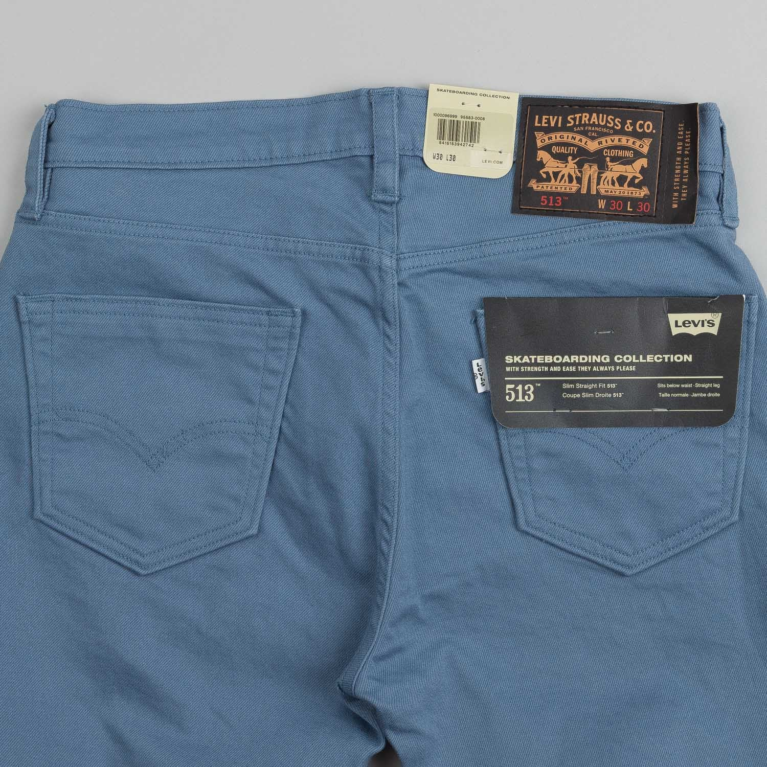 Levi's® Skate 513 Slim 5 Pocket Blue Grey