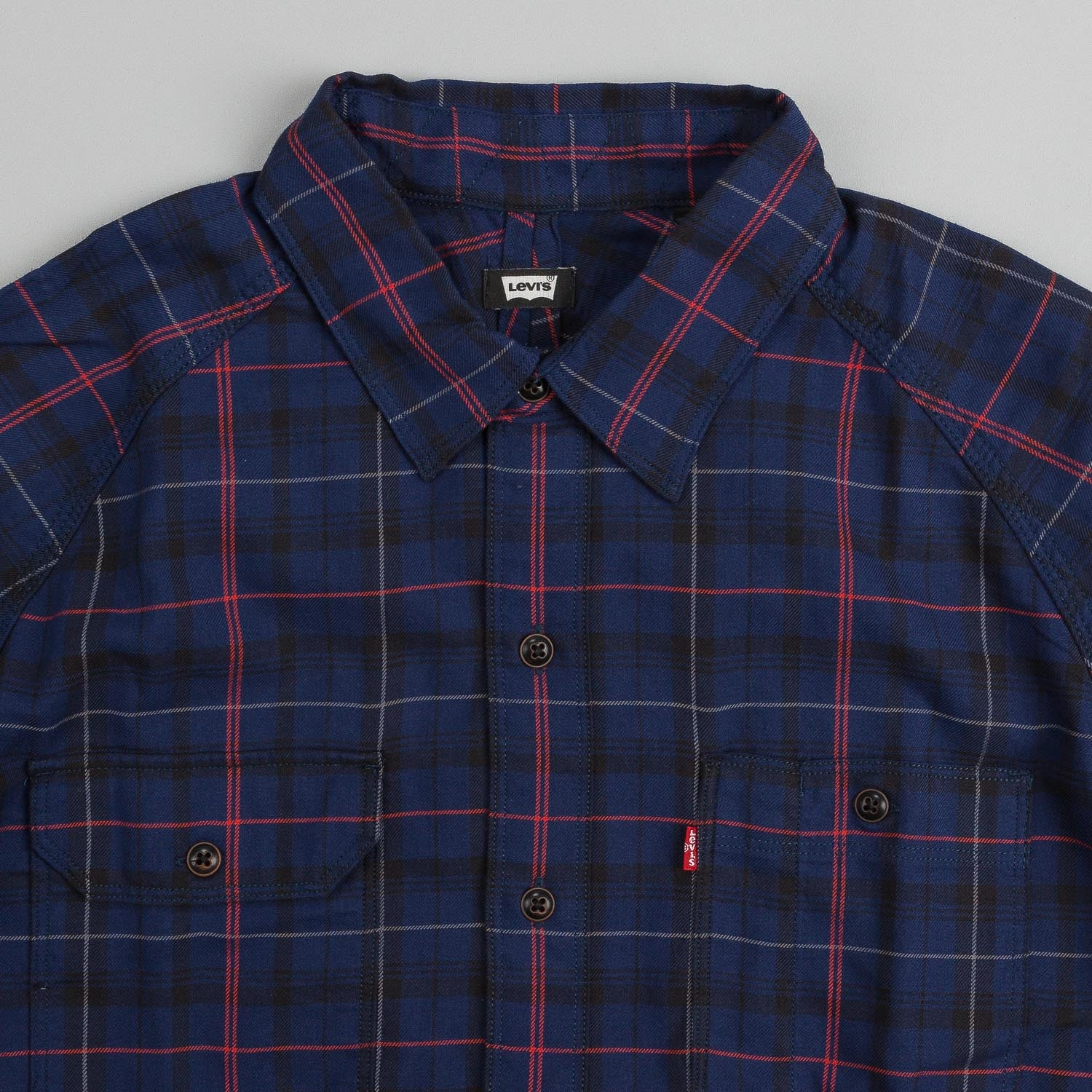 Levi's® Skate Maintenance L/S Shirt Medieval Blue Plaid