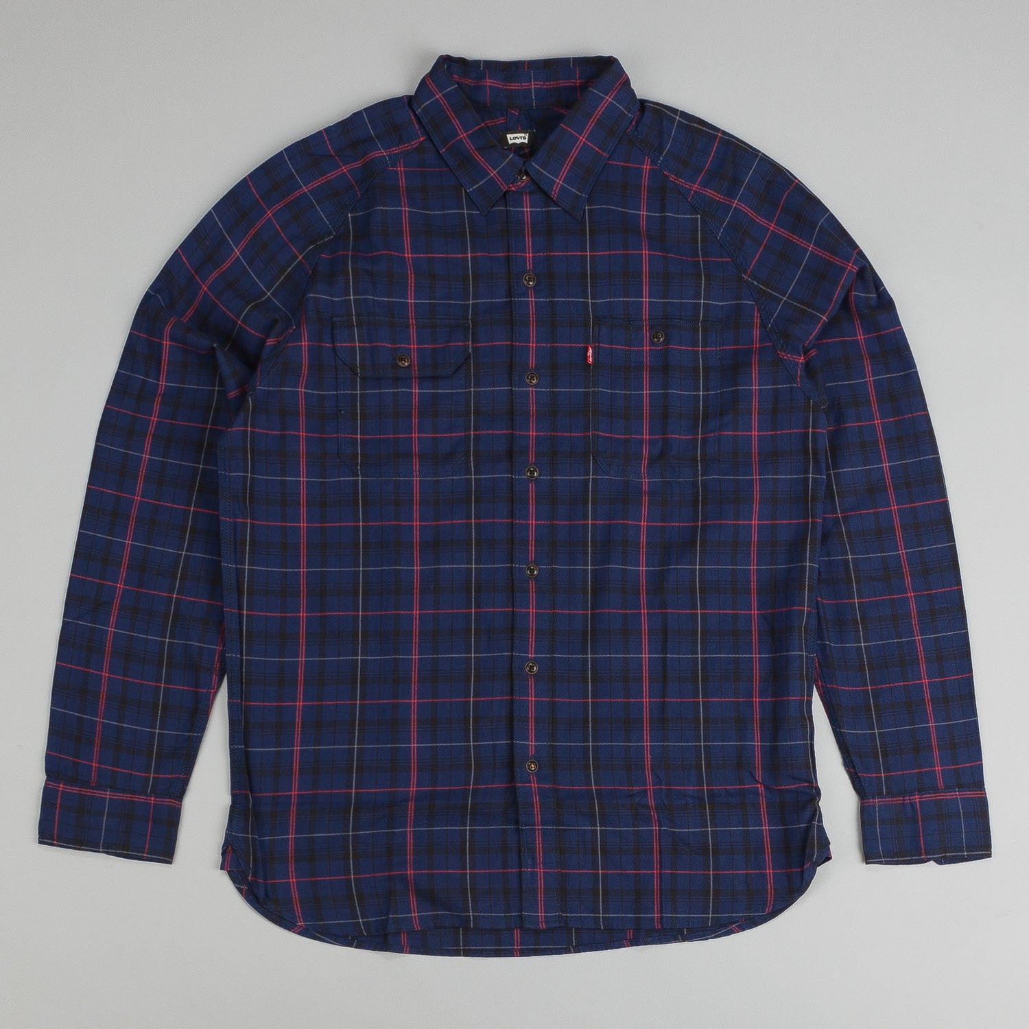 Levi's'® Skate Maintenance L/S Shirt Medieval Blue Plaid