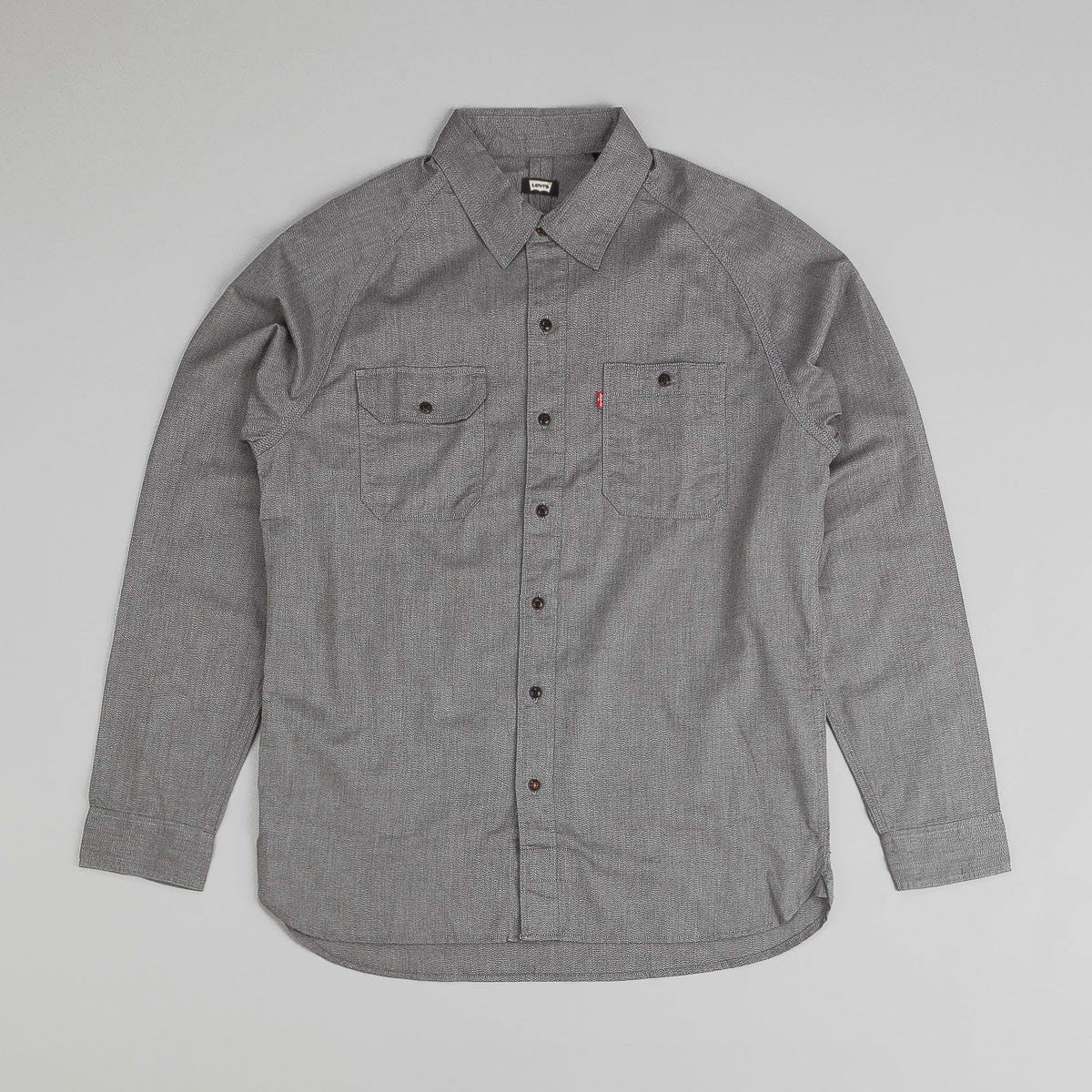Levi's® Skate Maintenance L/S Shirt Pattern Pewter